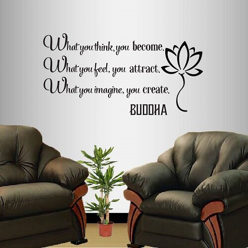 Buddha+Quote+What+You+Think+You+Become+Wall+Decal